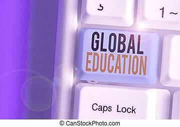 education., s, globale, percezione, concettuale, esposizione, world., uno, testo, idee, foto, aumentare, insegnato, segno
