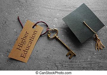 educazione, chiave, più alto
