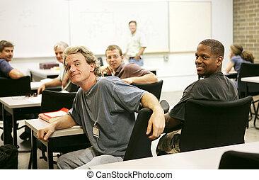 educazione, classe, adulto