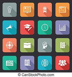 educazione, icone, internet, collezione