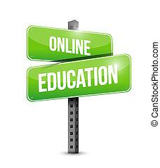 educazione, linea, strada, illustrazione, segno