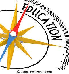 educazione, parola, bussola
