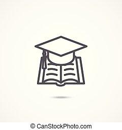 educazione, segno, icona