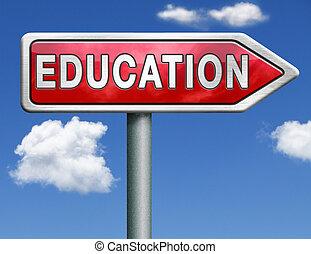 educazione, strada, segno freccia