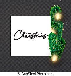 effect., bokeh, luce, disegno, oro, decorazione, rami, sagoma, natale, abete, nuovo, brillare, lucente, anno, lampadine, albero
