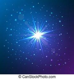 effect., luce, star., illustrazione, vettore, splendore, lucente