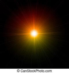 effect., luce, vettore, bagliore