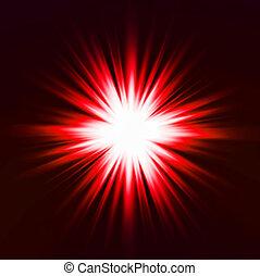 effect., luce, vettore, rosso, bagliore
