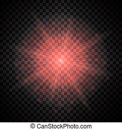 effect., luce, vettore, rosso, splendore