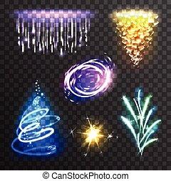 effetti, luce, set