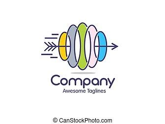 effetto, freccia, velocità, colorare, ellisse, logotipo, linee