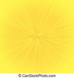 effetto, speedline, zoom, giallo, cartone animato