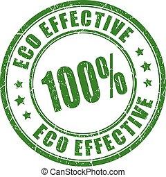 efficace, eco, vettore, francobollo