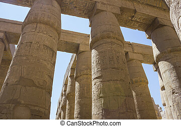 egitto, antico, tempio, rovine, karnak