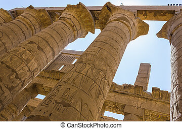 egitto, rovine antiche, tempio, karnak