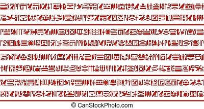 egiziano, 3, geroglifico, set, scrittura