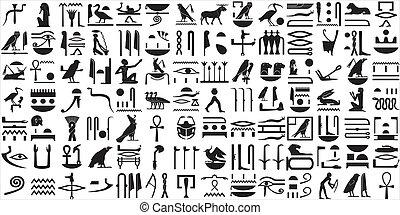 egiziano, geroglifici, 1, antico, set