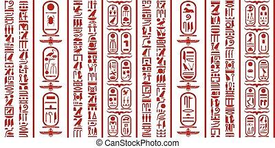 egiziano, geroglifico, scrittura