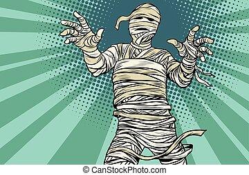 egiziano, vendemmia, film, orrore, halloween, mummia