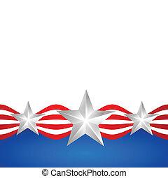 elegante, americano, giorno, indipendenza