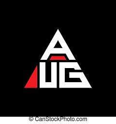 elegante, lettera, disegno, logo., forma., vettore, logotipo, monogram., lussuoso, triangolo, triangolare, semplice, color., rosso, sagoma, aug