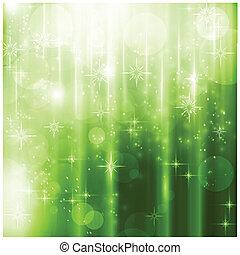 elegante, sfavillante, luci, verde, scheda natale