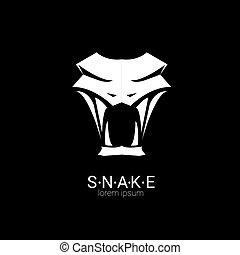 element., vettore, serpente, disegno, logotipo, semplice