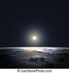 elementi, ammobiliato, questo, sole, immagine, spazio, orbit., nasa, terra, vista
