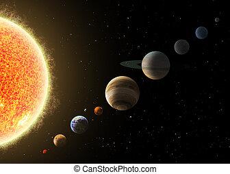 elementi, ammobiliato, system., immagine, questo, nasa, solare