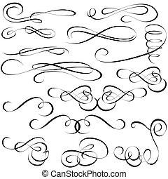 elementi, calligraphic