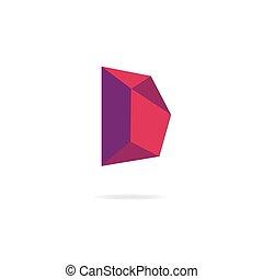 elementi, d, disegno, lettera, logo., sagoma