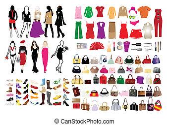 elementi, donne, moda