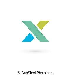 elementi, sagoma, x, logotipo, icona, lettera, disegno