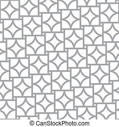 elementi, semplice, modello, astratto, -, seamless, vettore, geometrico