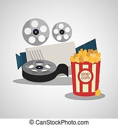 elemento, cinema, collezione, icone