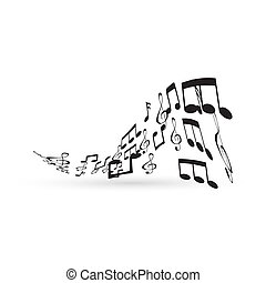 elemento, note, disegno, musica
