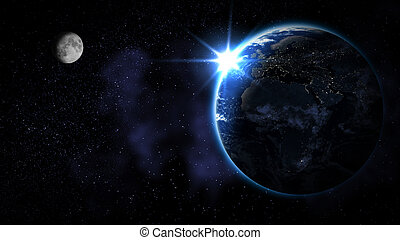 (elements, ammobiliato, questo, nasa), astratto, spazio, terra, immagine