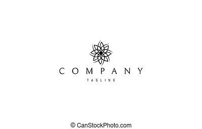 elements., astratto, affilato, immagine, fiore, vettore, logotipo