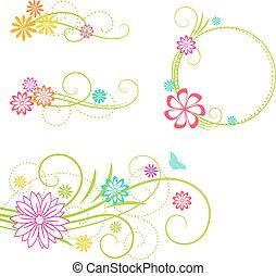 elements., disegno floreale