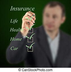 elenco, assicurazione