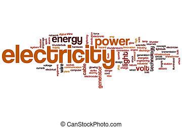 elettricità, parola, nuvola