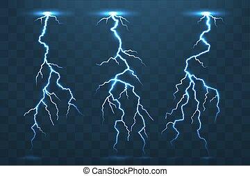 elettricità, tuono, temporale, lampi, bullone, ele, flash.