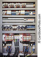 elettrico, pannello controllo