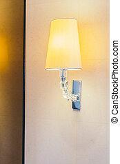 elettrico, parete, luce, decorazione, lampada, interno