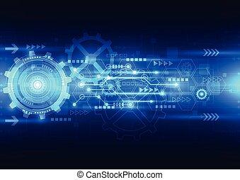 elettrico, telecom, astratto, ingegneria, vettore, fondo, futuro, tecnologia