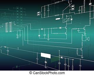elettronica, circuito, fondo
