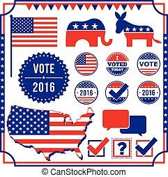 elezione, elemento, votazione, set