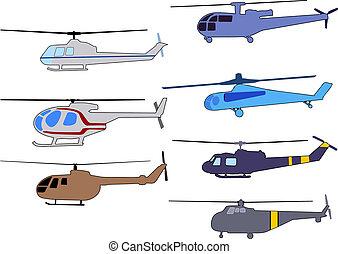 elicotteri, set