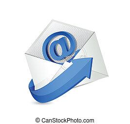 email., contatto, mail., ci, illustrazione