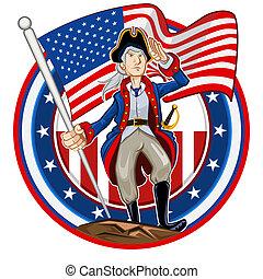emblema, americano, patriota